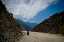 Slow going on dusty roads