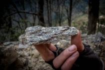 Interesting glimmering stone