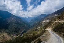 Start of road to Sela pass