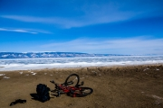 Lake Baikal on the shore