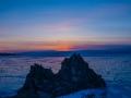 Sunset lake Baikal