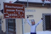 Susanne at Reschenpass