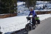 Suus on the bike
