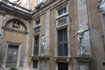 Building with stolen statues