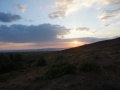 Sunset from camping spot