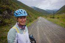 Susanne on gravel road