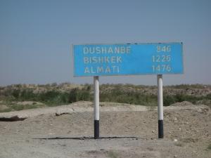 First sign in Uzbekistan