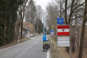 Borderpost at Swiss-Austrian border