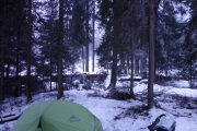 Campingspot next to ski-piste just past Sankt Anton