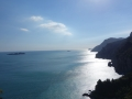 Sun going down at Amalfi coast