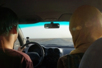 On our way to the desert dunes