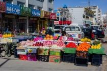 Lush Chinese fruit stalls