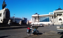 Arrived at Parlement square Ulaanbaatar!