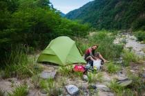 Camping at a nice river