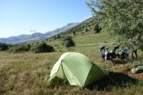 Camping close to Kurdish villages