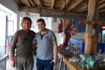 Martin and Kayhan at small restaurant