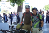 Martin and fellow cyclist