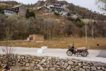Old temple and motorbike