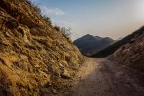 Small road cutting through mountain