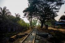 Train tracks out of Gangaw