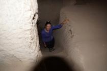 Susanne in a cave
