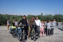 Teachers and school kids in Selime