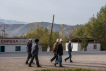 Kyrgyz men in the streets