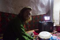 Martin watching Kyrgyz folk singing