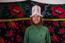 Martin with traditional Kyrgyz hat
