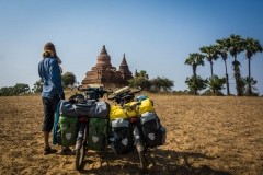 Kingdom of Bagan and sunrise