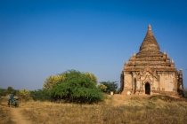 Kingdom of Bagan very quiet temple with beautiful Buddha