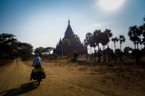 Kingdom of Bagan, crossing sandy roads
