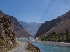 Cycling along the Wakhan valley