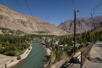 Looking back at the Gunt valley, Khorog