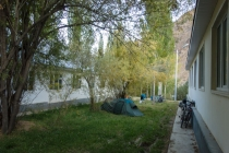 Camping with 5 other cyclists at Garm Chasma