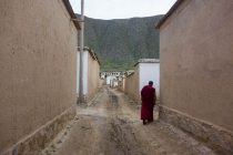 Monks on the streets