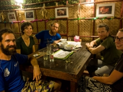 Cycle tourers meet-up with Mo, Marie and Martin