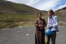 Tibetan woman and Susanne