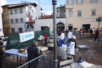 Being invited for free snack at a small festival in Rovereto