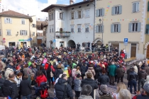 Festival in Rovereto with children dancing to music