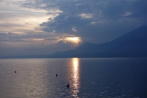 Lago di Garda at sunset