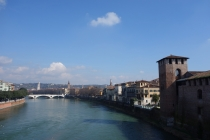 View from bridge Verona
