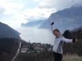 Susanne with Lago di Garda
