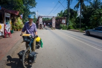 Entering Luang Prabang