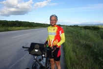 Fellow cyclist from France on his way from Istanbul to France.