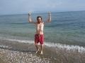 Martin braves the fresh water