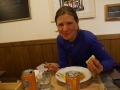 Eating at Ca'Paletti in Bologna, nice pasta dinner
