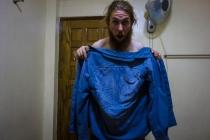Sweaty shirt!