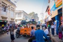 Traffic jam in Yenaungyoung