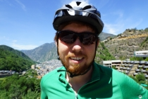 Martin with Andorra in the background.